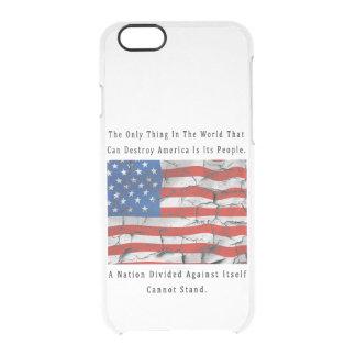 Capa Para iPhone 6/6S Transparente Uma nação dividida