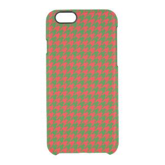 Capa Para iPhone 6/6S Transparente Verificação vermelha e verde do Natal clássico de