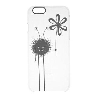 Capa Para iPhone 6/6S Transparente Vintage mau transparente do inseto da flor