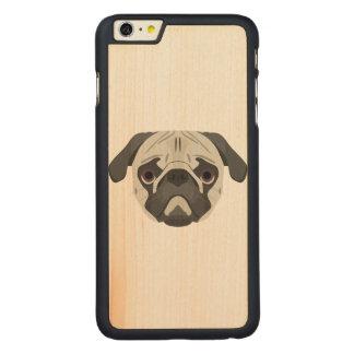 Capa Para iPhone 6 Plus De Bordo, Carved A ilustração persegue o Pug da cara
