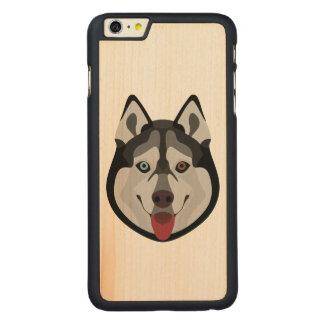 Capa Para iPhone 6 Plus De Bordo, Carved A ilustração persegue o rouco Siberian da cara