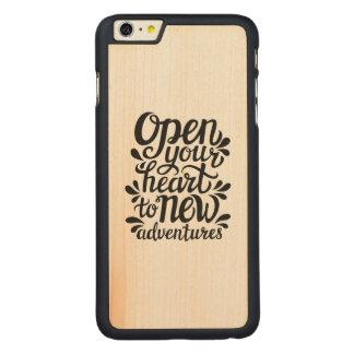 Capa Para iPhone 6 Plus De Bordo, Carved Abra seu coração às aventuras novas