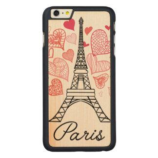 Capa Para iPhone 6 Plus De Bordo, Carved Amor de Paris, France