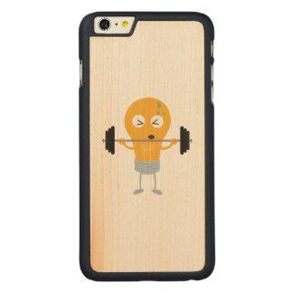 Capa Para iPhone 6 Plus De Bordo, Carved Ampola da malhação com peso Z1zu3