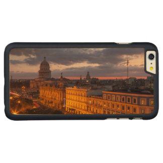 Capa Para iPhone 6 Plus De Bordo, Carved Arquitectura da cidade no por do sol, Havana, Cuba