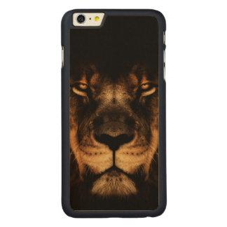 Capa Para iPhone 6 Plus De Bordo, Carved Arte africana da cara do leão