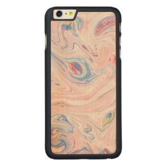 Capa Para iPhone 6 Plus De Bordo, Carved Arte moderna elegante Pastel do mármore luxuoso do