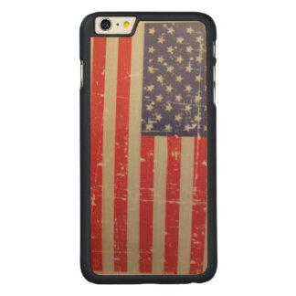 Capa Para iPhone 6 Plus De Bordo, Carved Bandeira americana resistida, afligida dos EUA