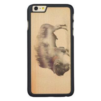 Capa Para iPhone 6 Plus De Bordo, Carved búfalo-paisagem exposição-americana Búfalo-dobro