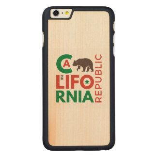 Capa Para iPhone 6 Plus De Bordo, Carved Califórnia com logotipo do urso de urso