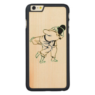 Capa Para iPhone 6 Plus De Bordo, Carved Caso de madeira do iPhone 6/6S de Jiu Jitsu