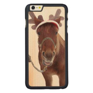 Capa Para iPhone 6 Plus De Bordo, Carved Cervos do cavalo - cavalo do Natal - cavalo