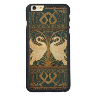 Capa Para iPhone 6 Plus De Bordo, Carved Cisne do guindaste de Walter, precipitação e arte