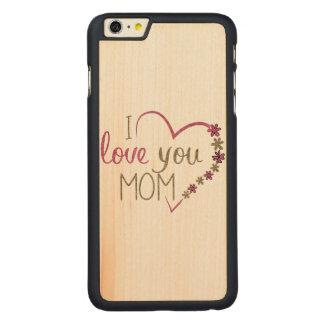 Capa Para iPhone 6 Plus De Bordo, Carved Coração do dia das mães da mamã do amor