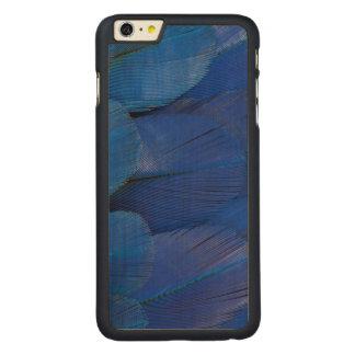 Capa Para iPhone 6 Plus De Bordo, Carved Design azul da pena do Macaw do jacinto