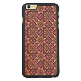 Capa Para iPhone 6 Plus De Bordo, Carved Design floral do teste padrão do abstrato da