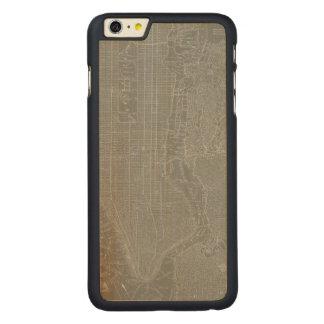 Capa Para iPhone 6 Plus De Bordo, Carved Esboço do mapa da Nova Iorque