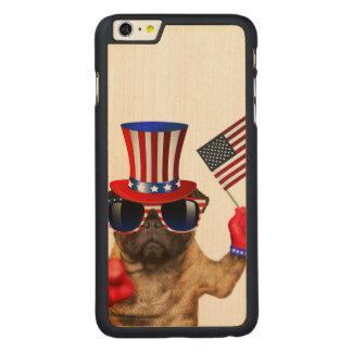 Capa Para iPhone 6 Plus De Bordo, Carved Eu quero-o, pug, cão do tio Sam,
