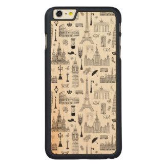 Capa Para iPhone 6 Plus De Bordo, Carved Férias no teste padrão de Europa