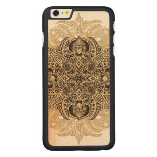 Capa Para iPhone 6 Plus De Bordo, Carved Fleur de Roda