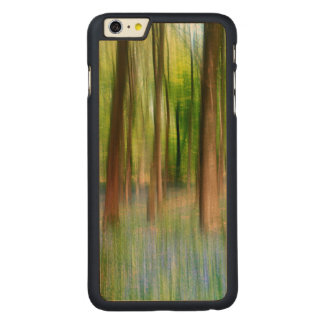 Capa Para iPhone 6 Plus De Bordo, Carved Floresta BRITÂNICA do carvalho do Bluebell de