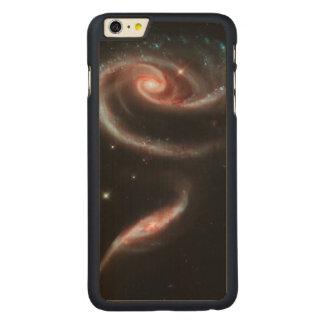 Capa Para iPhone 6 Plus De Bordo, Carved Galáxia cor-de-rosa