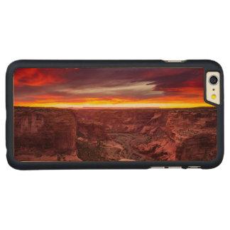 Capa Para iPhone 6 Plus De Bordo, Carved Garganta de Chelly, por do sol, arizona