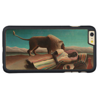 Capa Para iPhone 6 Plus De Bordo, Carved Henri Rousseau o vintage aciganado do sono