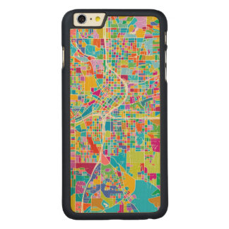 Capa Para iPhone 6 Plus De Bordo, Carved Mapa colorido de Atlanta