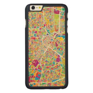 Capa Para iPhone 6 Plus De Bordo, Carved Mapa de néon de Houston, Texas |