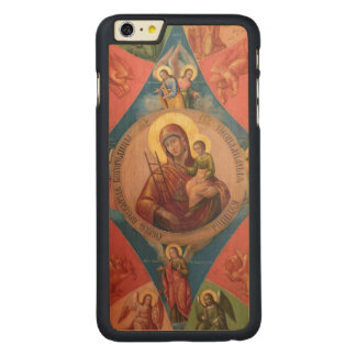 Capa Para iPhone 6 Plus De Bordo, Carved Mary, Jesus, e anjos