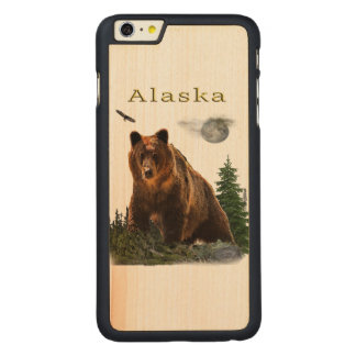Capa Para iPhone 6 Plus De Bordo, Carved Mercadoria do estado de Alaska