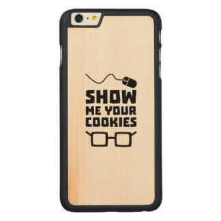 Capa Para iPhone 6 Plus De Bordo, Carved Mostre-me seu geek Zb975 dos biscoitos