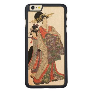 Capa Para iPhone 6 Plus De Bordo, Carved Mulher no quimono colorido (impressão do japonês