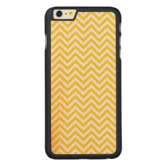 Capa Para iPhone 6 Plus De Bordo, Carved O ziguezague amarelo e branco listra o teste
