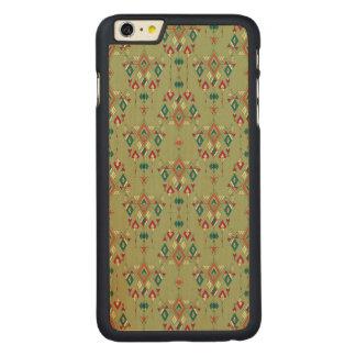Capa Para iPhone 6 Plus De Bordo, Carved Ornamento asteca tribal étnico do vintage