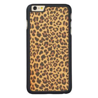 Capa Para iPhone 6 Plus De Bordo, Carved Padrões da pele animal do impressão do leopardo
