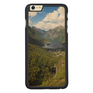 Capa Para iPhone 6 Plus De Bordo, Carved Paisagem do fiorde de Geiranger, Noruega