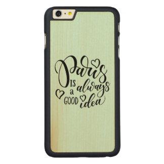 Capa Para iPhone 6 Plus De Bordo, Carved Paris é sempre um bom roteiro da ideia