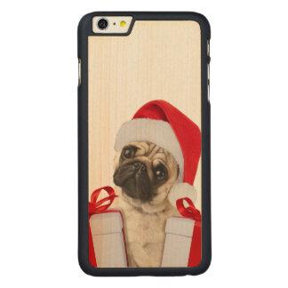 Capa Para iPhone 6 Plus De Bordo, Carved Presentes do Pug - cão claus - pugs engraçados -