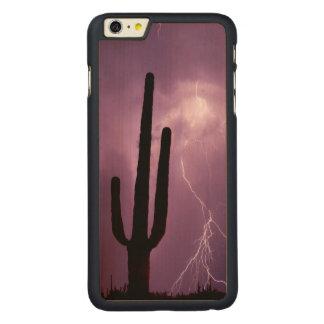 Capa Para iPhone 6 Plus De Bordo, Carved Relâmpago e cacto roxos, AZ