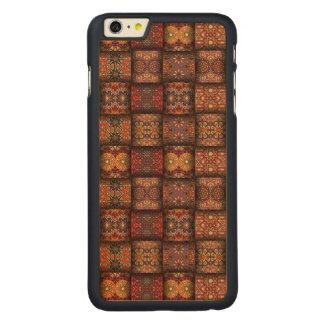 Capa Para iPhone 6 Plus De Bordo, Carved Retalhos do vintage com elementos florais da