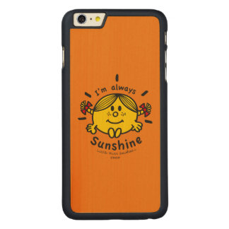 Capa Para iPhone 6 Plus De Bordo, Carved Senhorita pequena Luz do sol | eu sou sempre luz