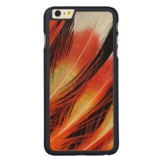Capa Para iPhone 6 Plus De Bordo, Carved Teste padrão da pena do Cockatoo