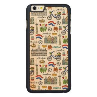 Capa Para iPhone 6 Plus De Bordo, Carved Teste padrão do Doodle de Netherland