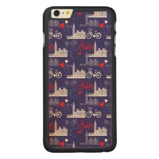 Capa Para iPhone 6 Plus De Bordo, Carved Teste padrão dos marcos de Londres