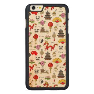 Capa Para iPhone 6 Plus De Bordo, Carved Teste padrão dos símbolos de China