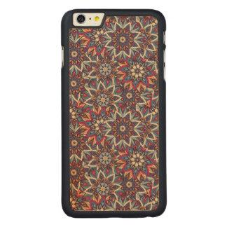 Capa Para iPhone 6 Plus De Bordo, Carved Teste padrão floral étnico abstrato colorido da