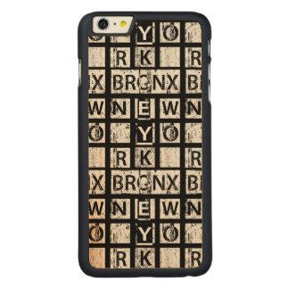 Capa Para iPhone 6 Plus De Bordo, Carved Tipografia do Grunge de Bronx New York |