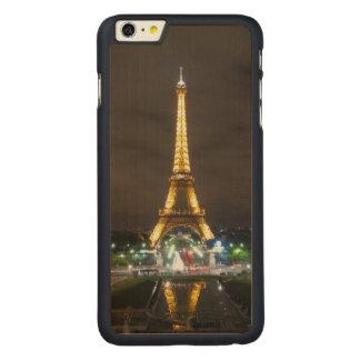 Capa Para iPhone 6 Plus De Bordo, Carved Torre Eiffel na noite, Paris
